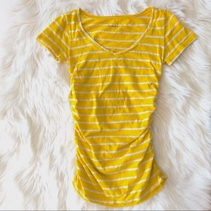 CASLON for Nordstrom Maternity Tee Yellow white S